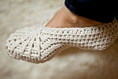 Spider Web crochet slippers
