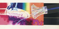 Oogkleppen (detail) ~ 1968-1969 ~ Olieverf en fluoriscerende verf op doek en aluminium  ~ 23 delen ~ 275 x 2530 cm. ~ Museum Ludwig, Keulen ~  © James Rosenquist