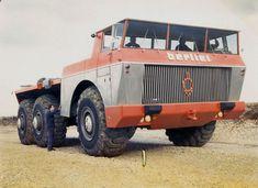 Berliet T100 n°4 à la Valbonne, essais  1959.    has potential. add a 1000 gallong fuel tank, armor it up, and put a living area on the back