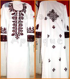 latest aplic dresses - Google Search Embroidery Neck Designs, Applique Designs, Blouse Designs, Dress Designs, Cut Work, Applique Dress, Shalwar Kameez, Punjabi Suits, Indian Wear
