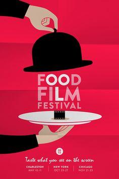 On cherchait une idée d'affiche pour une fête sur la thématique du cinéma. On a trouvé cette idée qui mélangeait cinéma et gastronomie… un peu hors sujet pour notre client, mais ça pourrait faire une belle affiche pour le « Food Film Festival » de New Yor…