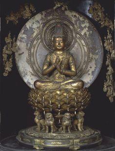 厨子入大日如来坐像...運慶作(光得寺) Vairocana by Unkei [ Kōtoku-ji ] Around 1199