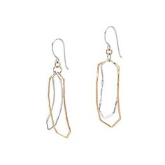 MIXED METALS HAMMERED EARRINGS