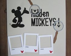 Pre Made Scrapbook Layout/Disney Scrapbook Page/Mickey Scrapbook Layout/Hidden Mickeys