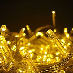 Samgoo Copper Wire Lights 10m Starry String Lights for Indoor Dcor Rope Lights for Seasonal Decorative Christmas Holiday Wedding Yellow >>> Want additional info? Click on the image.