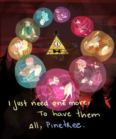 Gravity Falls Pine Tree bubbles Weirdmageddon weirdness bubbles cipher zodiac wheel Bill Cipher --- AM I THE ONLY ONE WHO WISHES THE FINALE HAD INCLUDED THIS CONCEPT?!?