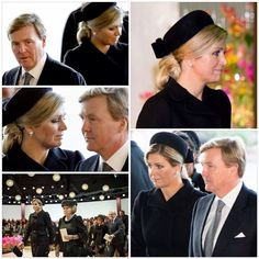 10-11-2014 Queen Maxima, King Willem-Alexander and Princess Beatrix at the commemoration of flight MH17