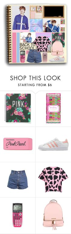 """""""Back to School"""" by ninaxo17 ❤ liked on Polyvore featuring Victoria's Secret, Lilly Pulitzer, Paper Mate, adidas Originals, Bundy & Webster and MICHAEL Michael Kors"""