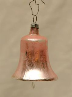 Nostalgischer Alter Christbaumbehang Christbaumschmuck Glocke #vintage glass ornaments