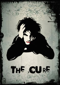Alternative\Gothic Rock band: The Cure, with Robert Smith in the illustration of a book cover. Gothic Rock Bands, Heavy Metal, Nu Metal, Metal Bar, New Wave, Rock Posters, Concert Posters, Music Is Life, My Music