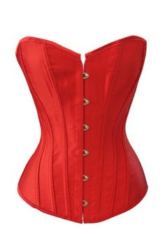 Chicastic Red Satin Sexy Strong Boned Bridal Corset Lace Up Bustier - XXL | Jet.com