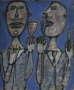 Snack for Two  Jean Dubuffet (French, 1901-1985)  1945. Oil on canvas