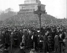 1920 Armistice Day That Cross Represent The 10 Irish Division Soldiers That Were Killed..it Was Made In Belgium After The Mons Battle A lot Irish Men Were Killed. It Was Brought over To Ireland And Kept Under Lock And Key Away in The Memorial Gardens Island Bridge to this day.