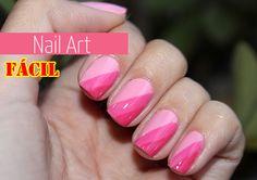 Nail Art / Unha decorada com tons de rosa  Eu Capricho