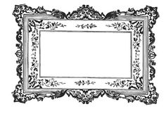Baroque Frame-Baroque Wall Decal (idea for magnetic wall board)