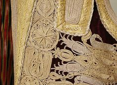 Evening Coat Date: 19th century Culture: European, Eastern Medium: silk, metal thread; embroidery detail.