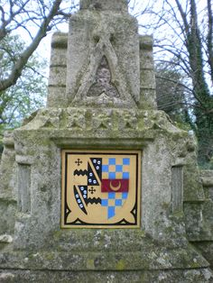 Vavasour arms, from the graveyard attached to St. Leonard's Chapel at Hazelwood Castle, including Stourton quartering.