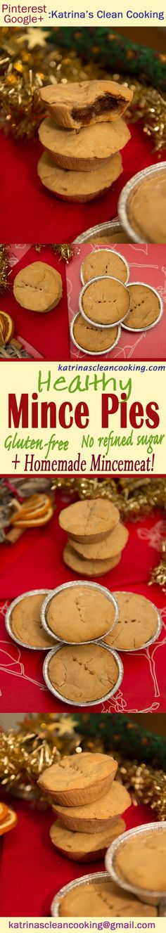 These Healthy Mince Pies are gluten-free, refined-sugar-free and vegan. Easy and delicious, make this traditional treat in just half an hour, for Christmas! Vegan Gluten Free, Dairy Free, Clean Eating Recipes, Healthy Recipes, Ginger Jam, Mince Pies, Baking Tins, Low Sugar, Gingerbread Cookies