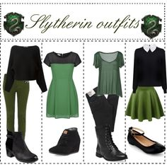 """""""Slytherin Outfits"""" by ameliaroseoswald on Polyvore"""