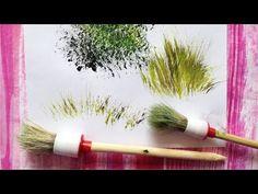 Круглая строительная кисть - находка для рисования:) - YouTube Art Painting Gallery, Painting Videos, Painting Techniques, Sunrise Painting, Drawing Sketches, Drawings, Evergreen Trees, Bob Ross, Beautiful Paintings