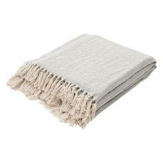 Jaipur Seabreeze Solid Woven Cotton Throw Mineral Blue / Birch - THR100042