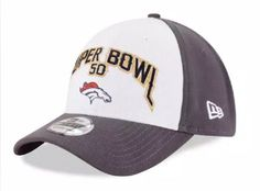 4a616f993 Men s 2016 NFL New Era Denver Broncos Super Bowl 50 39THIRTY Flex Fit Hat