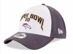 Men's 2016 NFL New Era Denver Broncos Super Bowl 50 39THIRTY Flex Fit Hat  #NewEra #DenverBroncos