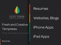 Dark & Colored Vertical Menu, to be used as a Sidebar. Dribbble: http://drbl.in/dVNJ