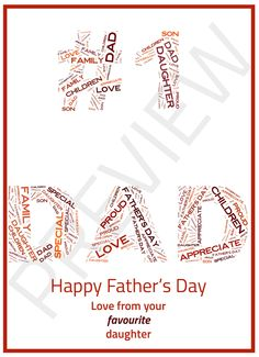 !! FATHER'S DAY - JUNE 21ST !!  Get your bespoke gift for Father's Day TODAY for just £3.75!  Choose from hundreds of designs or tell me your idea and I will create it.  Can be collected or posted to you FREE of charge.  Produced the same day on high quality A4 glossy photo paper!  Make sure you have the BEST gift this year for Father's Day, order today!  For more information, check out my eBay listing - or contact me via PM.  http://www.ebay.co.uk/itm/171794373181
