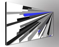 Modern abstract art - geoetric wall decor for office or home space.