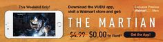 VUDU : The Martian movie rental free when you download latest app and visit a walmart store #LavaHot http://www.lavahotdeals.com/us/cheap/vudu-martian-movie-rental-free-download-latest-app/72975