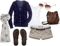 """""""Navy"""" nsutical outfitbby rachel-norris on Polyvore"""