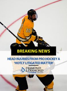 Head injuries from pro hockey a 'hotly litigated matter' Pro Hockey, Head Injury, Toronto Star, Personal Injury Lawyer, National Hockey League, Current News, Football Players, Nfl