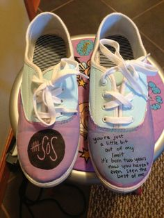 Customizable 5 Seconds of Summer Shoes by kayleyhayscreations, $20.00  For all the 5SoS fans.