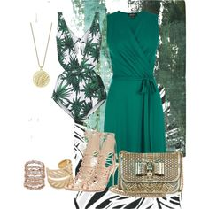 Untitled #336 by desert-diva on Polyvore featuring polyvore fashion style Warehouse Mara Hoffman Sophia Webster Christian Louboutin Theo Fennell Palm Beach Jewelry Rebecca Minkoff