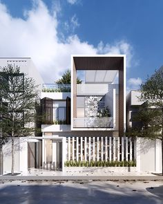 Modern Small House Design, Modern Minimalist House, Facade Design, Exterior Design, Modern Bungalow Exterior, House Elevation, Front Elevation, Contemporary Building, Facade Architecture