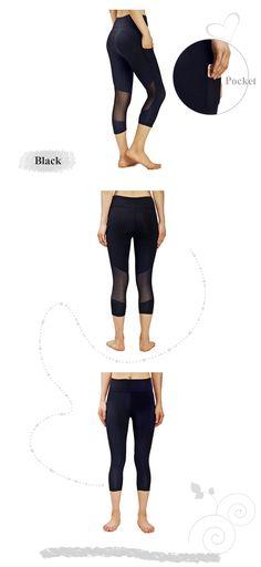 Sportoli Womens Athletic Active Slim Capri Yoga Legging Pants Workout Fitness