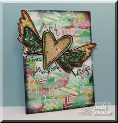 MIX8 Rip It, Paste It, Ink It! Challenge ATC by true-2-you - Cards and Paper Crafts at Splitcoaststampers