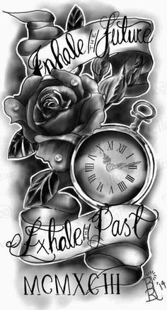 Pocket watch with rose and quote quarter sleeve. I want this for my sleeve tattoo Pocket watch with rose and quote quarter sleeve. I want this for my sleeve tattoo Quarter Sleeve Tattoos, Best Sleeve Tattoos, Tattoo Sleeve Designs, Tattoo Designs Men, Half Sleeve Tattoos For Men, Tattoo Sleeves Women, Clock Tattoo Sleeve, Tattoo Designs And Meanings, Half Sleeve Tattoos With Clocks