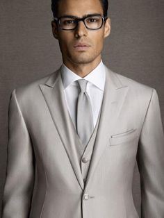 mens gray silk wool suits - Google Search