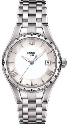Tissot Womens TLady Mother of Pearl Dial Stainless Steel Watch  T0722101111800   You can find more e4fcad4a2e0