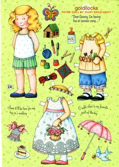 Paper Doll Goldilocks by Mary Engelbreit