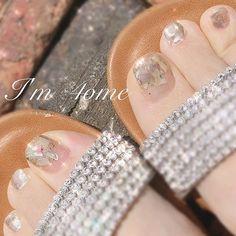 ネイル ネイル in 2020 Pretty Toe Nails, Pretty Toes, Love Nails, Feet Nail Design, Toe Nail Designs, Nail Parlour, Self Nail, Happy Nails, Nail Art Videos