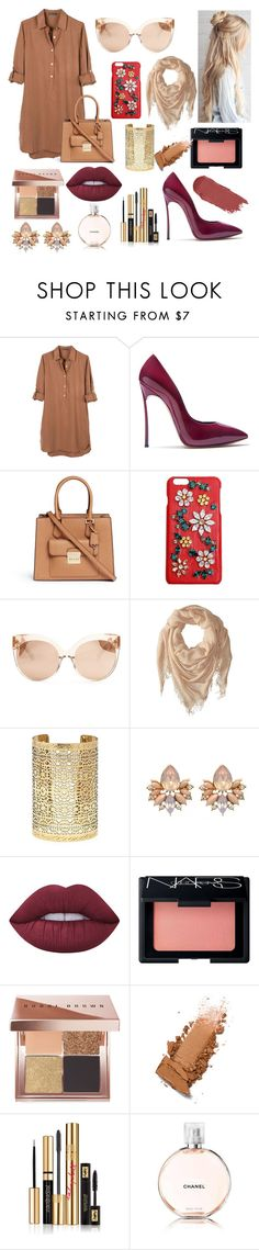 """""""ClassyNude"""" by lrderodat ❤ liked on Polyvore featuring United by Blue, Casadei, Michael Kors, Dolce&Gabbana, Linda Farrow, Chan Luu, Forever 21, Lime Crime, NARS Cosmetics and Bobbi Brown Cosmetics"""