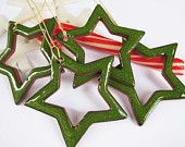 Green Bored Stars For Ceramic Christmas Ornaments Gift  Home Decoration Pottery