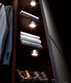 the new solus led battery operated wardrobe light from sensio battery lighting solutions
