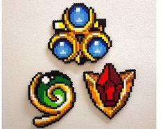 Link perler Zelda Nintendo DS 8 bit pixel perler bead