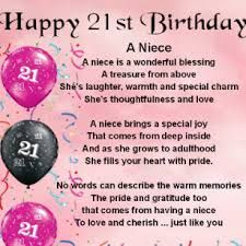 Happy 21st Birthday To My Niece Google Search Birthday Quotes