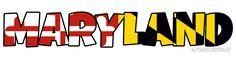 Maryland flag word art #Maryland #flag #word #art #sticker  ArtisticAttitude.net