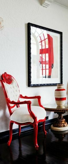Red Home Decor, Chair, Scarlet, Furniture, Style, Art, Swag, Home Furnishings, Stool